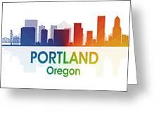 Portland Or Greeting Card