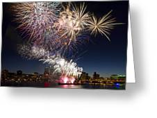 Portland Oregon Fireworks Greeting Card