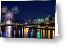 Portland Rose Festival 2017 Fireworks Greeting Card
