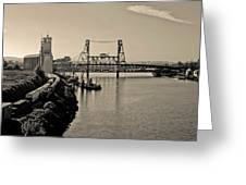 Portland Steel Bridge Greeting Card