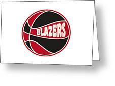 Portland Trail Blazers Retro Shirt Greeting Card