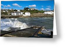 Portmellon In Winter Greeting Card