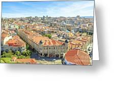 Porto Historic Center Aerial Greeting Card