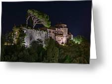 Portofino Bay By Night V - Notte Al Castello Greeting Card