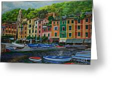 Portofino Harbor Greeting Card