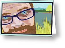 Portrait At Lake Junaluska Greeting Card
