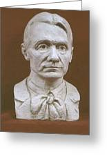 Portrait Bust Of Rudolf Steiner Greeting Card