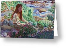 Portrait By The Stream Greeting Card