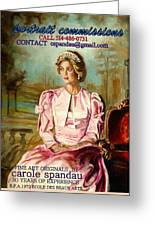 Portrait Commissions By Portrait Artist Carole Spandau Greeting Card