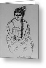 Portrait Girl Greeting Card