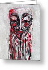 Portrait Melting Of Anonymous Mask Chan Wikileak Occupy Guy Fawkes Sopa Mpaa Pirate Lulz Reddit Greeting Card