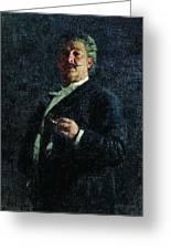 Portrait Mo Mikeshin 1888 Ilya Repin Greeting Card