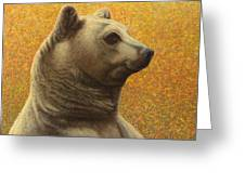 Portrait Of A Bear Greeting Card