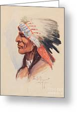 Portrait Of A Chief Greeting Card