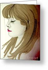 Portrait Of A Lovely Young Woman Greeting Card