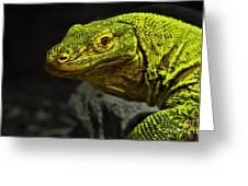 Portrait Of A Komodo Dragon Greeting Card