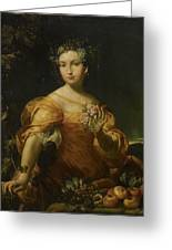 Portrait Of A Lady, Allegory Of Abundantia Greeting Card