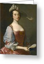 Portrait Of A Lady In Van Dyck Dress Greeting Card