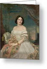 Portrait Of A Lady Sitting Under A Pergola Greeting Card