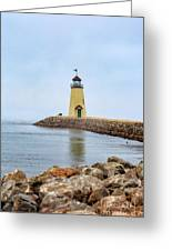 Portrait Of A Lighthouse Greeting Card