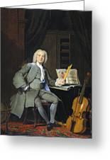Portrait Of A Member Of The Van Der Mersch Family, 1736 Greeting Card