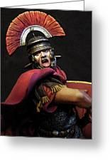 Portrait Of A Roman Legionary - 11 Greeting Card