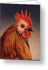 Portrait Of A Rooster Greeting Card
