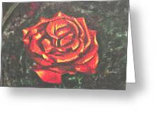Portrait Of A Rose 2 Greeting Card