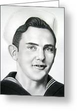 Portrait Of A Sailor Greeting Card