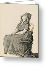 Portrait Of A Seated Woman Greeting Card