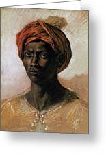 Portrait Of A Turk In A Turban Greeting Card