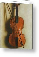 Portrait Of A Violin Greeting Card