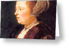 Portrait Of A Woman 1640 Greeting Card