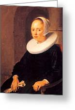 Portrait Of A Woman 1646 Greeting Card