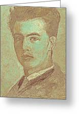 Portrait Of A Young Artist Greeting Card