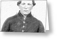Portrait Of A Young  Civil War Soldier 4 Greeting Card
