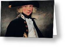 Portrait Of A Young Midshipman Sir Henry William Beechey Greeting Card