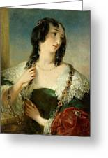 Portrait Of A Young Woman Greeting Card