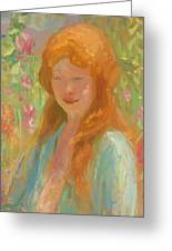 Portrait Of A Young Women In Garden 1912 Greeting Card