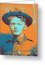 Portrait Of A Young  Wwi Soldier 4 Greeting Card