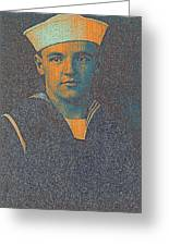 Portrait Of A Young  Wwi Soldier Series 10 Greeting Card