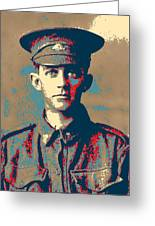 Portrait Of A Young  Wwi Soldier Series 19 Greeting Card