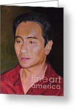 Portrait Of Actor Anthony Brandon Wong Greeting Card