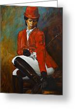 Portrait Of An Equestrian Greeting Card