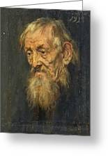 Portrait Of An Old Man 1913 Greeting Card