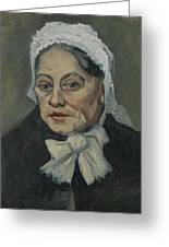 Portrait Of An Old Woman Antwerp December 1885 Vincent Van Gogh 1853  1890 Greeting Card