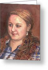 Portrait Of Andrea Greeting Card