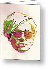 Portrait Of Andy Warhol Painting By Ryan Hopkins