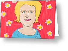 Portrait Of Ania Greeting Card