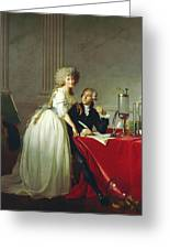 Portrait Of Antoine-laurent Lavoisier And His Wife Greeting Card